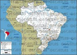 city map of brazil geoatlas countries brazil map city illustrator fully