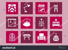 vector icon set home interior design stock vector 432264310