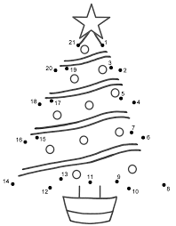 christmas dot to dots coloring pages for kids and for adults