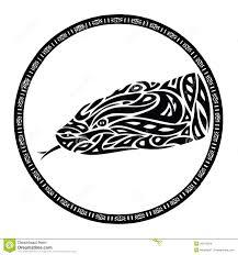 tribal anaconda snake tattoo stock images image 28319234