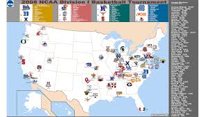 Gmu Map Colorado by Seedings For 2008 March Madness Billsportsmaps Com