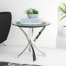 Glass End Tables Modern Glass End Side Tables Allmodern