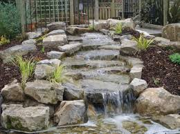 Rock Garden With Water Feature Garden Design Garden Design With Country Garden Design