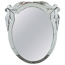 Shaped Bathroom Mirrors by 1930s Venetian Oval Shaped Etched Wall Mirror Furniture Wall
