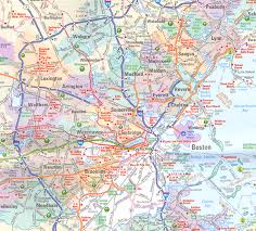 map of massachusetts counties massachusetts map including boston and counties