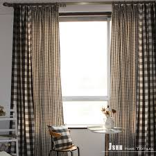 Black Check Curtains Lovely Black And White Plaid Curtains Decorating With Curtain