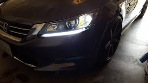 2014 honda accord led ijdmtoy 2 even illuminating headlight led daytime running lights