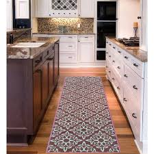 Damask Kitchen Rug with Sweet Home Stores Sweet Home Collection Damask Design Aubergine