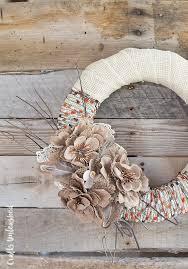 fall wreath diy project idea burlap u0026 yarn consumer crafts