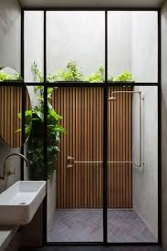 the est edit outdoor showers double life house by breathe