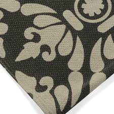 Damask Bath Rug Black And 100 Cotton Damask Bath Rug Walmart