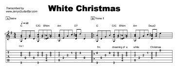 christmas songs white christmas guitar lesson by jerry u0027s