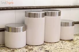 canisters for the kitchen and inexpensive kitchen canister update simplytangerine