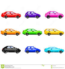 pixel car pixel art cars vector set stock vector image of travel 61836318