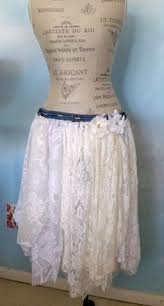 Shabby Chic Skirts by Plus Size Denim Skirt Size 1x Free People Tattered Fringe Jean