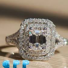 simulated engagement ring best simulated emerald cut ring products on wanelo