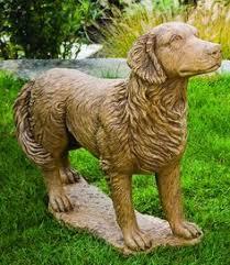 size bronze golden retriever statues