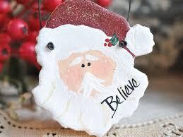 santa salt dough ornament napkin ring salt