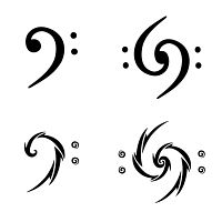 bass clef tattoo tattoo flash pinterest clef bass and tattoo