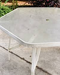 Patio Table Glass Shattered by How To Revive A Patio Table Bless U0027er House