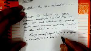 english format of letter to the editor by kundan sir youtube