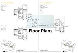 The Parc Condo Floor Plan by Parc Riviera High Rise Waterfront Condominium Along Sungei Pandan
