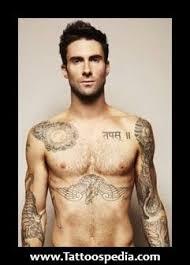 adam levine chest tattoos