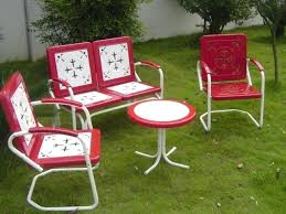 Vintage Outdoor Patio Furniture Retro Porch Furniture Great Vintage Metal Outdoor Furniture Style