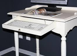 Schreibtisch Mit Computertisch Landhaus Pc Tisch Schreibtisch Massiv Holz Cremeweiß Lackiert