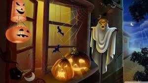 Halloween Desktop Wallpapers Free Download Wallpaper Spooky House Bats Scary Pumpkin Spider Web Hallowmas Halloween Hd