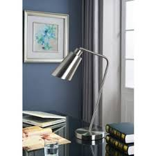 Brushed Steel Desk Lamp Solaris Table Lamp Free Shipping Today Overstock Com 13919970