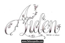 shaped name lettering design tattoomagz