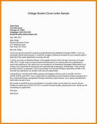 exles of a resume cover letter student research assistant cover letter