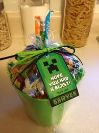 minecraft goody bag goodie bag favor bag barrett s 7th bday