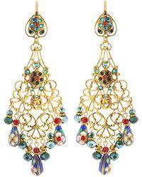 Beaded Chandelier Clip Earrings White Lyst Shop Women U0027s Jose U0026 Maria Barrera Earrings From 116 Lyst