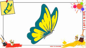 how to draw a butterfly 2 simple easy u0026 slowly step by step for