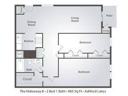 2 bedroom 1 bath floor plans 2 bedroom apartment floor plans pricing ashford lakes