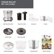 nutribullet veggie bullet electric spiralizer shredder and slicer