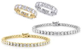 bracelet with ring set images Cubic zirconia ring and bracelet groupon goods jpg