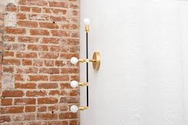 free shipping vertical 4 light wall sconce black and brass gold 4