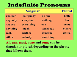 indefinite pronouns ppt video online download