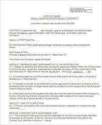 construction contract template free u0026 premium templates