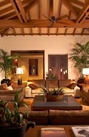 gorgeous modern colonial interior with wallpaper and painting