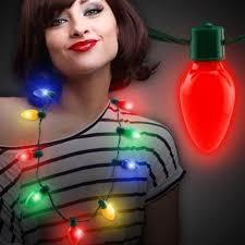 bulb necklace led light up favors toyworld