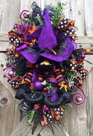 halloween wreath halloween decor halloween swag by babamwreaths