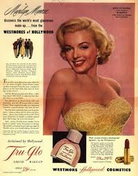 westmore cosmetics vintage ad for westmore cosmetics featuring marilyn 1950s