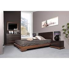 grande commode chambre chambre adulte chêne merisier tania lit tête de lit commode 4