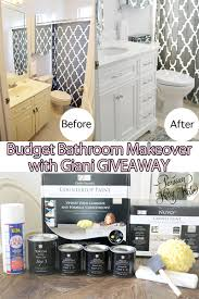 budget bathroom makeover with giani giveaway persian kitty kat