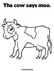 cow coloring page animals town animal color sheets cow picture