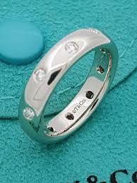 diamonds rings tiffany images Tiffany co platinum 4mm etoile diamond band ring sz 4 25 jpg